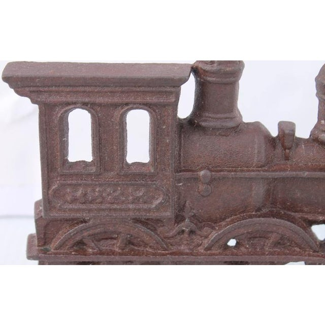 19th Century Original Old Surface Iron Train Door Stop - Image 4 of 8