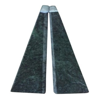 Verde Green Marble Architectural Bookends - A Pair