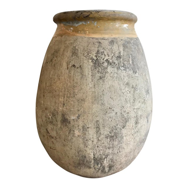 Very large 19th Century French Biot Olive Jar For Sale