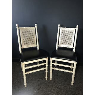Vintage Ca 1950s Foldable Faux Bamboo Chairs - a Pair Preview
