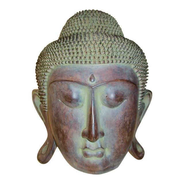 Resin Buddha Head Figure - Image 1 of 5