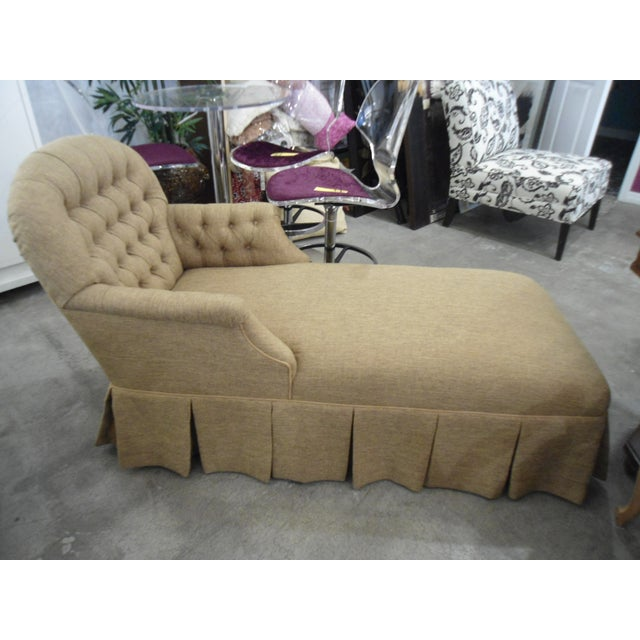 Tufted Brown Chaise - Image 3 of 5