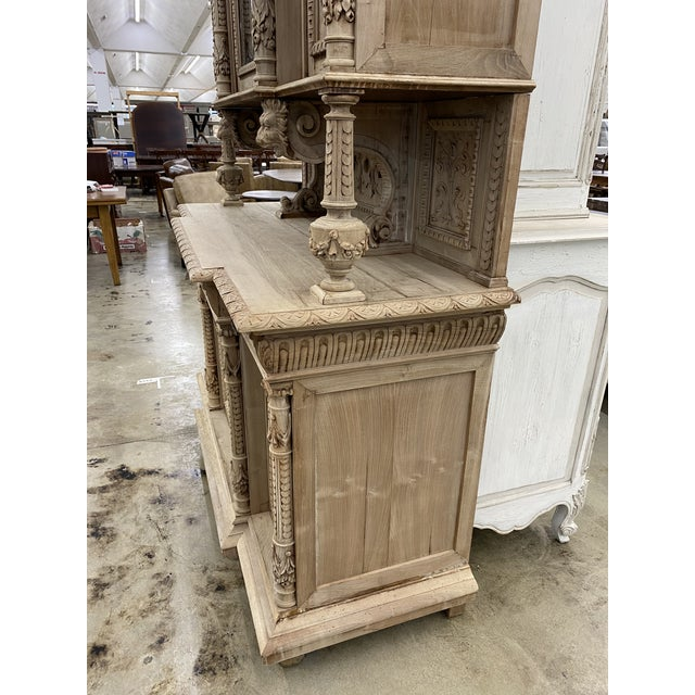 19th Century French Renaissance Bleached Walnut Cabinet For Sale - Image 11 of 13