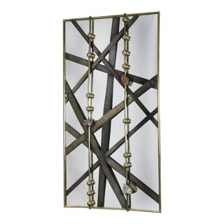 Lanières Gold Mirror by Christine Rouviere For Sale