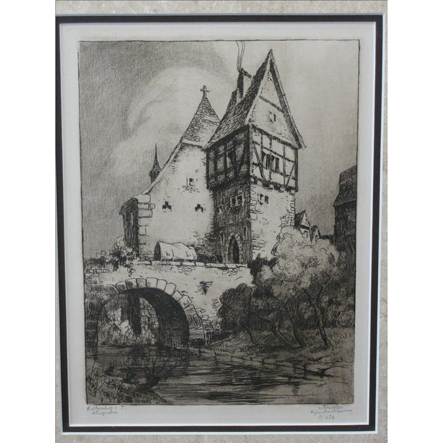 German Engraving of Rothenburg Ob Der Tauber - Image 3 of 8
