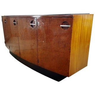 Classic Art Deco Burl Mahogany Sideboard Gilbert Rohde for Herman Miller For Sale