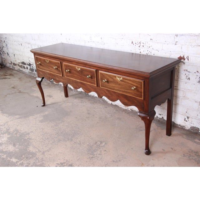 An exceptional Queen Anne style sideboard or credenza From the Jamestown Colony Collection by Henkel Harris USA, Circa...