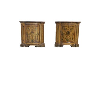 Antique Painted Italian Commodes- A Pair For Sale