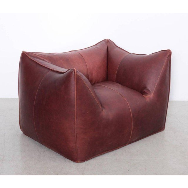 The Bambole lounge chair, designed in 1972 by Mario Bellini for B&B Italia. New aniline leather upholstery. Base marked...