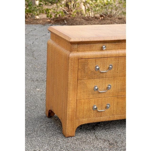 Wood Heavenly Raffia Chest by Harrison Van Horn For Sale - Image 7 of 11