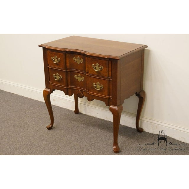 20th Century Traditional Wells Furniture Cherry Blockfront Lowboy Chest For Sale - Image 4 of 13