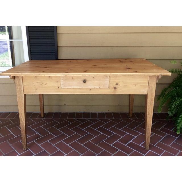 French Pine Single-Drawer Desk - Image 2 of 11