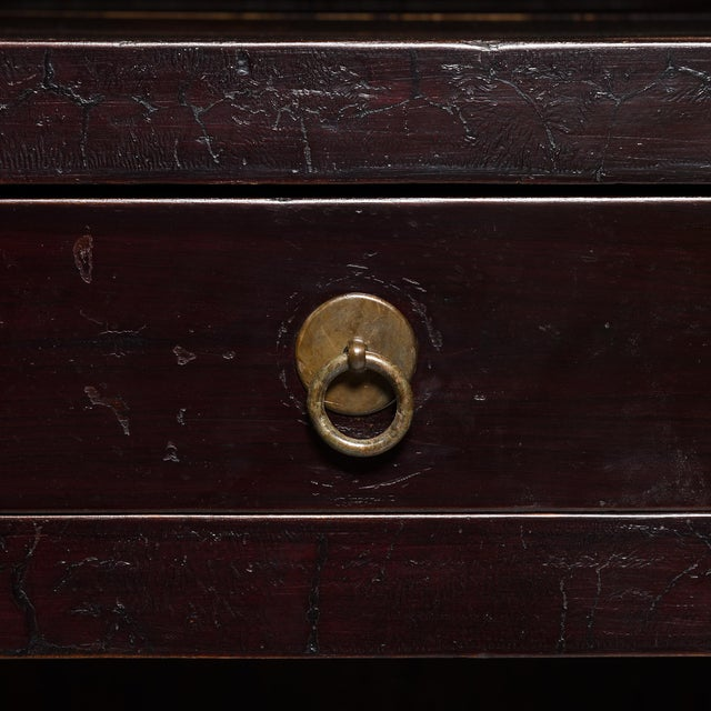19th Century Chinese Crackle Lacquered Cabinet For Sale - Image 11 of 11
