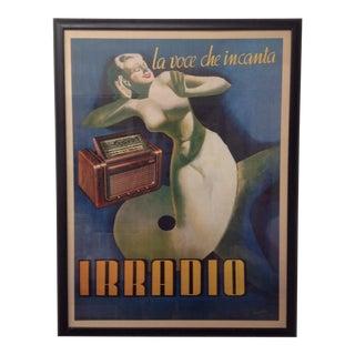 """Gino Boccasile """"La Voce Che Incanta Irradio"""" Print For Sale"""