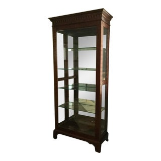 Jasper Cabinet Cherry & Glass Display Curio Cabinet For Sale