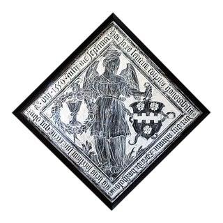 "Flemish ""Angel From Breda"" Brass Rubbing Print"