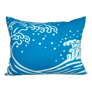 """""""Surf's Up"""" Japanese Happi Festival Jacket Pillow Cover For Sale"""