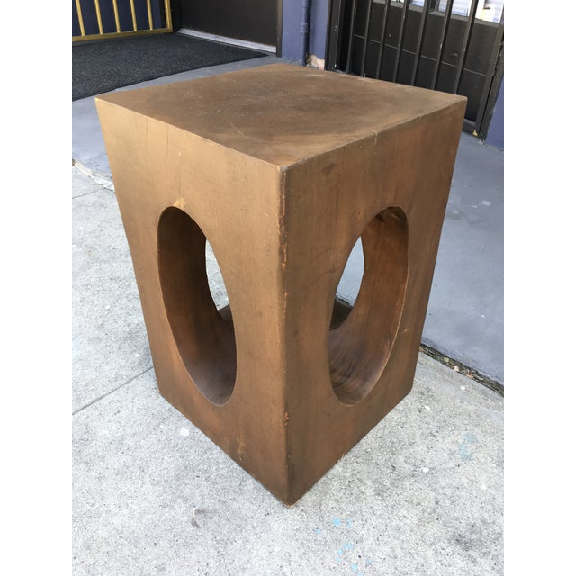 Mahogany Sculptural Side Table For Sale - Image 9 of 9