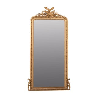 French 19th Century Louis XVI-Style Giltwood Mirror For Sale