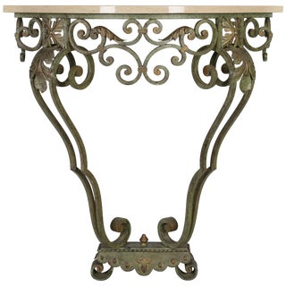 French Louis XV Style Iron Console For Sale