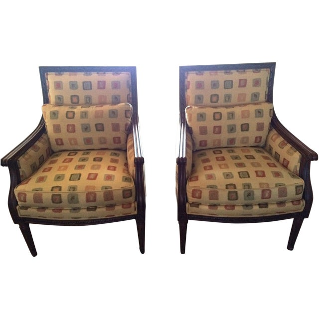 Ethan Allen Neoclassical Style Accent Chairs- Pair - Image 1 of 7