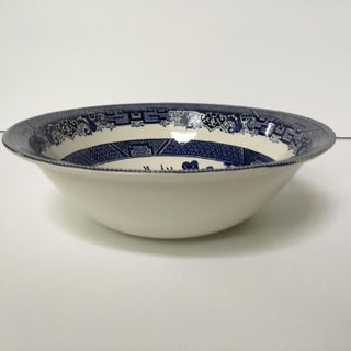 Late 20th Century Vintage Johnson Brothers Willow Pattern Serving Bowl Preview
