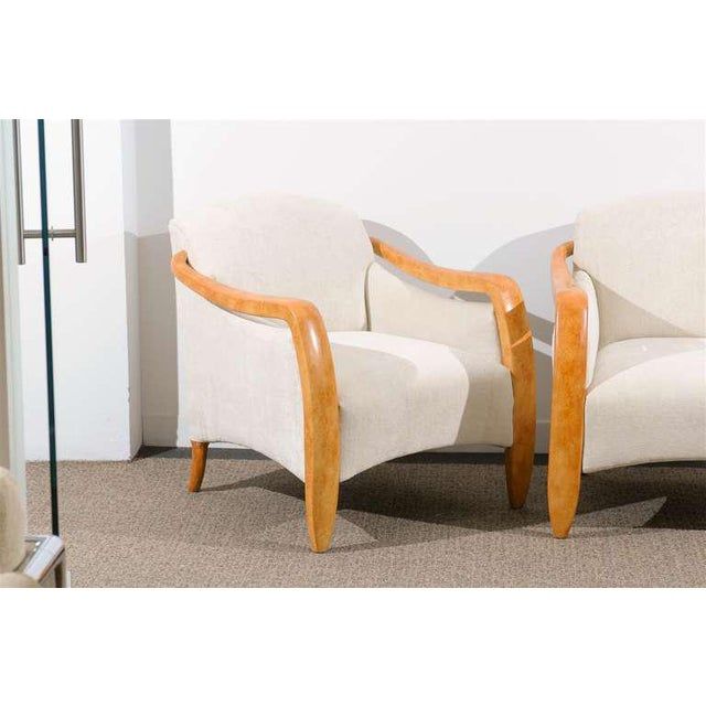 Mid-Century Modern Jaw-Dropping Restored Pair of Modern Club Chairs For Sale - Image 3 of 11
