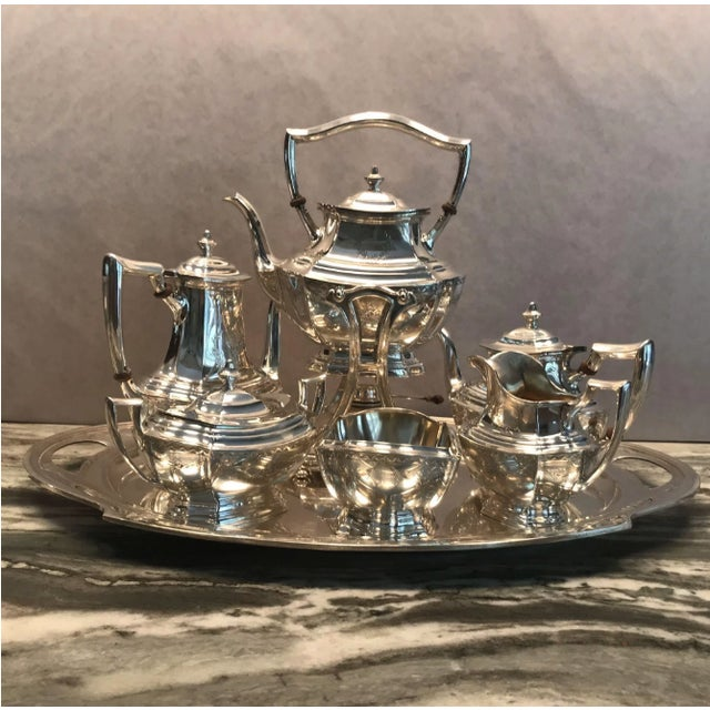 Traditional R. Wallace and Sons of Wallingford Circa 1940 American Sterling Tea Service - Set of 7 For Sale - Image 3 of 7