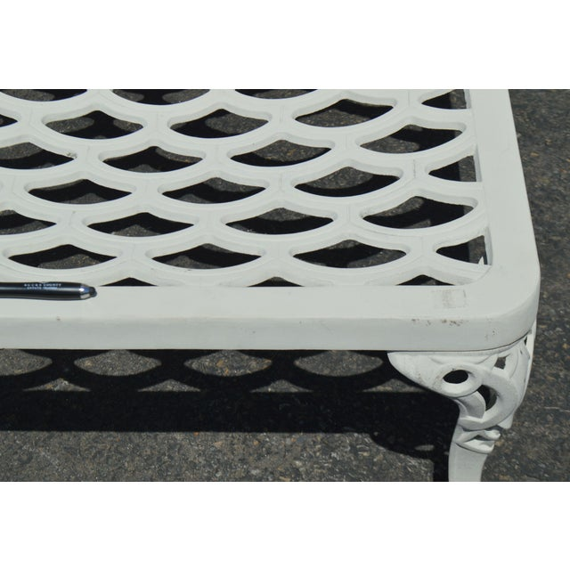 Quality Pair Cast Aluminum Patio Chaise Lounges For Sale - Image 12 of 13