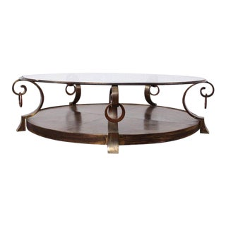 Bronze Coffee Table by Arturo Pani For Sale
