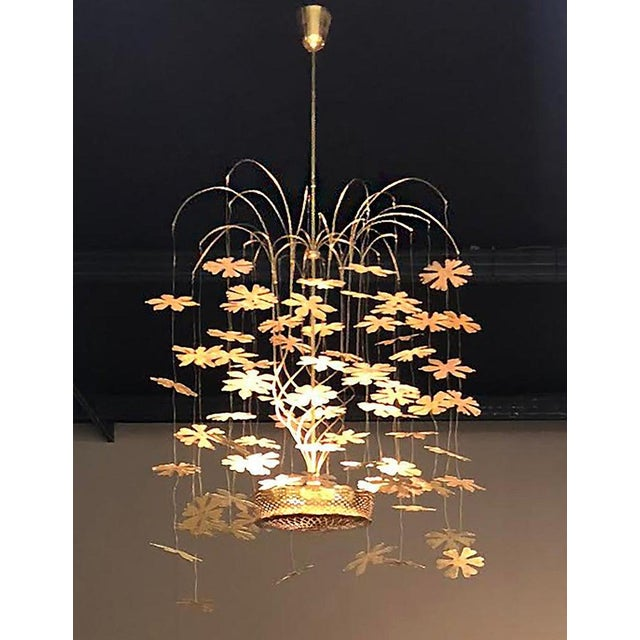 Hollywood Regency Rare and Important Paavo Tynell 'Fantasia' Snowflake Chandelier for Taito Oy For Sale - Image 3 of 12