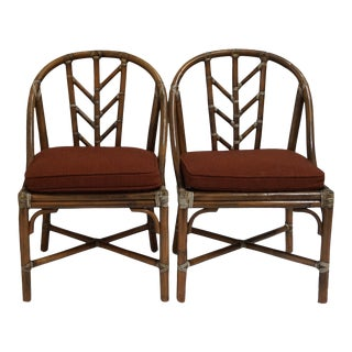 Vintage McGuire Bamboo Chairs-Pair For Sale
