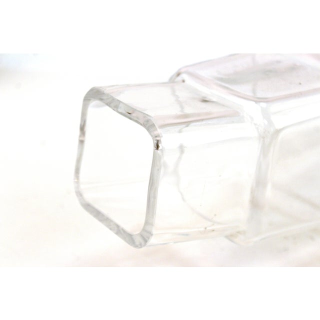 Transparent Denizli Modern Stacked Leaning Glass Vase For Sale - Image 8 of 10