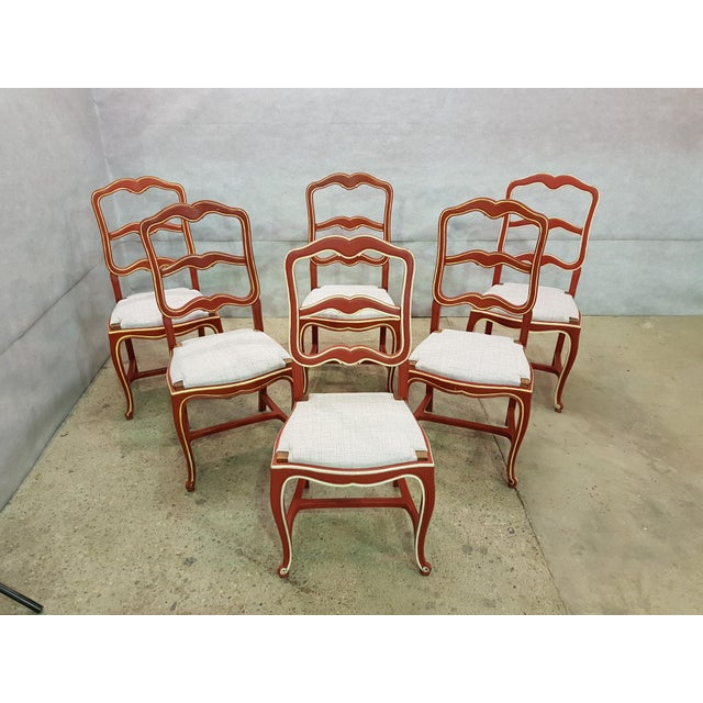 465d0704c4b Early 1940s vintage set of six unique French country farmhouse ladderback  dining chairs. Considered the