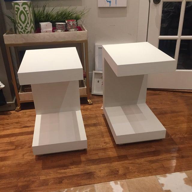 Bungalow 5 Bungalow 5 Linen Side Tables- a Pair For Sale - Image 4 of 12