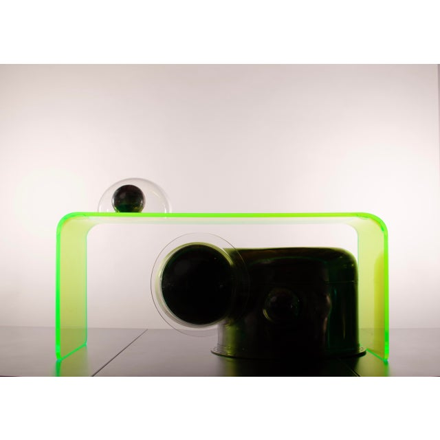 """The Long Game"" Coffee Table in Neon Green For Sale - Image 10 of 11"
