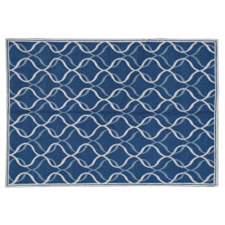 Stark Studio Rugs Contemporary Linen Soumak Rug - 6′1″ × 8′11″ For Sale
