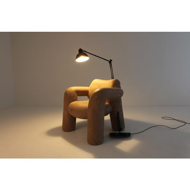 Brown Blown-Up With Lamp in Vegan Leather Coating by Schimmel & Schweikle For Sale - Image 8 of 11