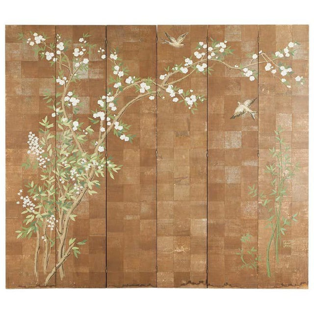 Chinoiserie Six-Panel Screen Inspired by Robert Crowder For Sale - Image 13 of 13
