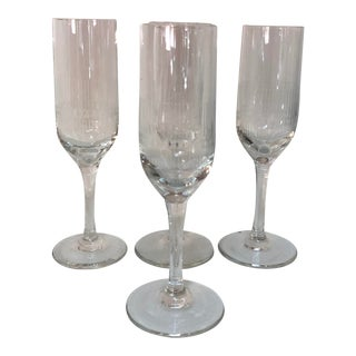 Vintage Crystal Liqueur Stemmed Glasses - Set of 4 For Sale