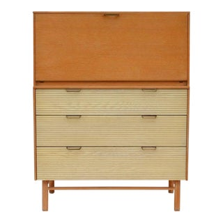 Pristine Mid-Century Secretary Cabinet by Raymond Loewy for Mengel For Sale