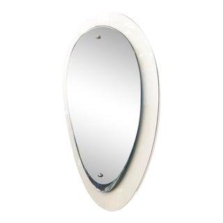 Reverse Teardrop Mirror by Cristal Art, Italy, 1960s For Sale