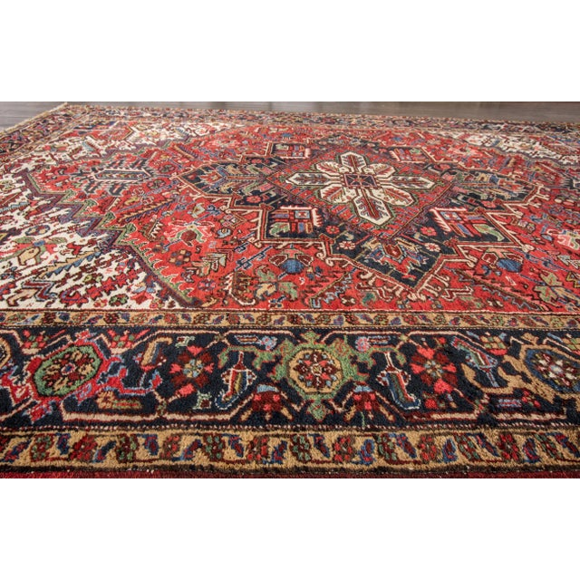 "Apadana - Vintage Persian Heriz Rug, 7'9"" x 10'9"" For Sale - Image 4 of 7"