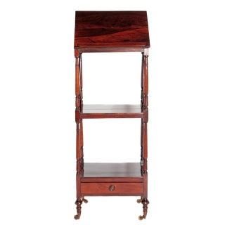 Regency Rosewood Three-Tier Music Stand / Whatnot For Sale