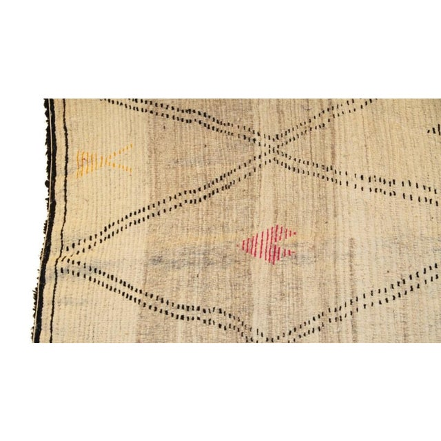 "Moroccan Vintage Beni Ourain Rug - 5'10"" X 8'5"" - Image 4 of 4"