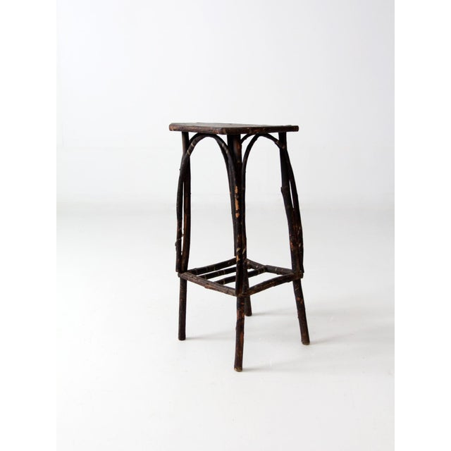 Adirondack Antique Adirondack Twig Table For Sale - Image 3 of 11