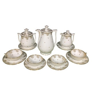 Limoges R. LeClair 22k Gilt France Coffee Tea Set - 13 Pc. Set