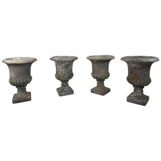 20th Century Italian Neoclassical Garden Pots Set, Garden Ornament For Sale