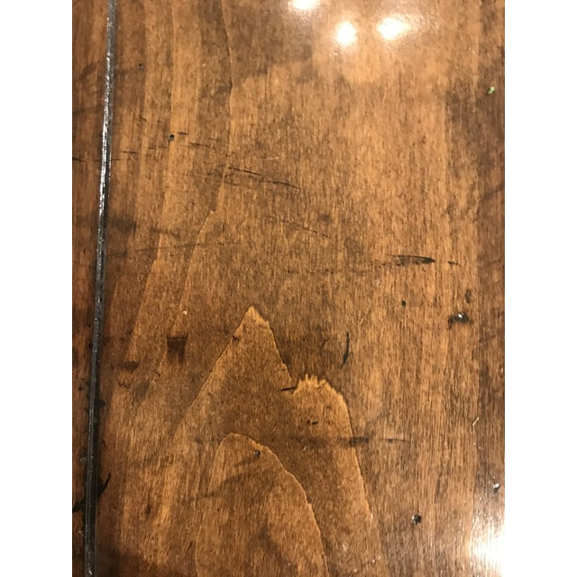 Brown Guy Chaddock Wood Dining Table For Sale - Image 8 of 12