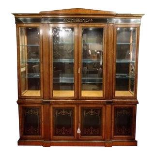 Vintage Breakfront Bookcase
